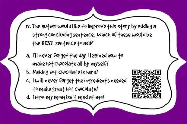 NEW** Editing & Revising Task Cards with QR Codes